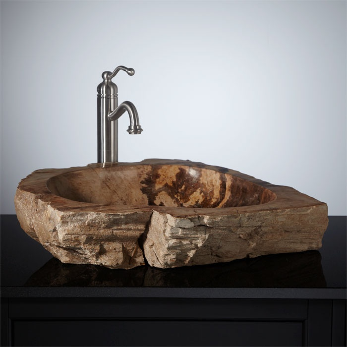 Rock Sink : Fleming Petrified Wood Vessel Sink Plans for The Mother Ship Pint ...