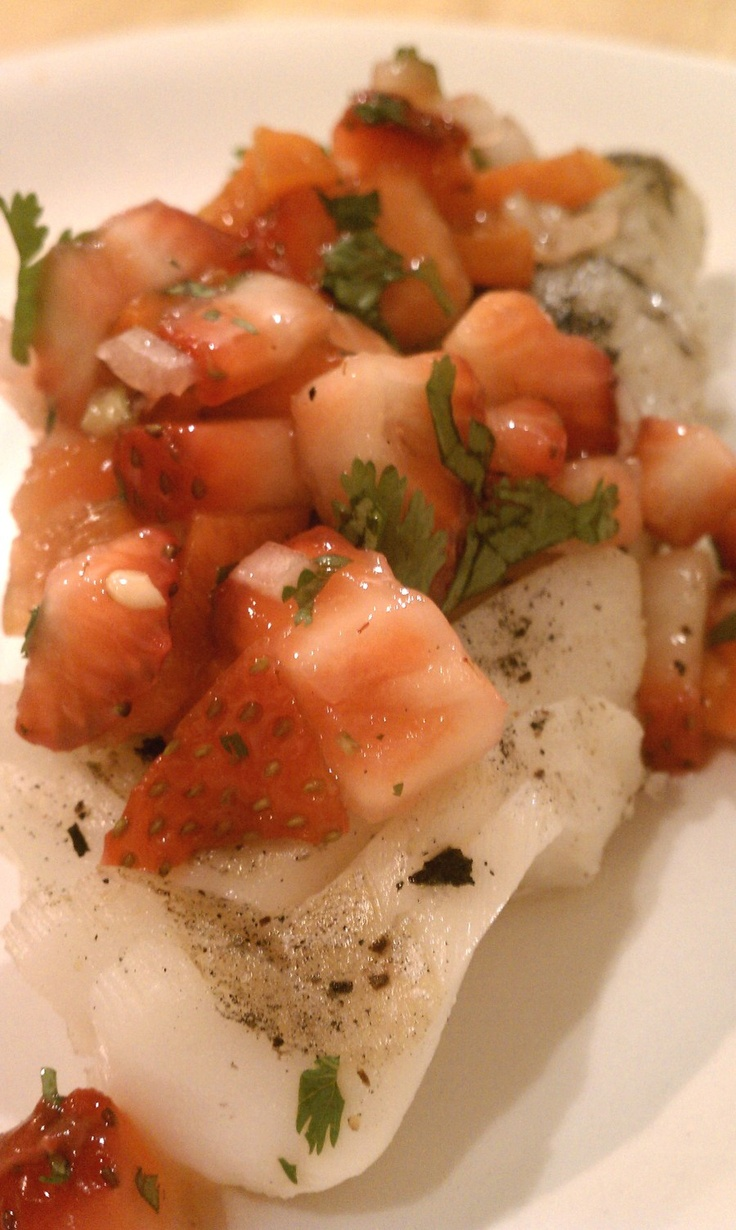 ... cod with strawberry salsa grilled cod with strawberry salsa fitness