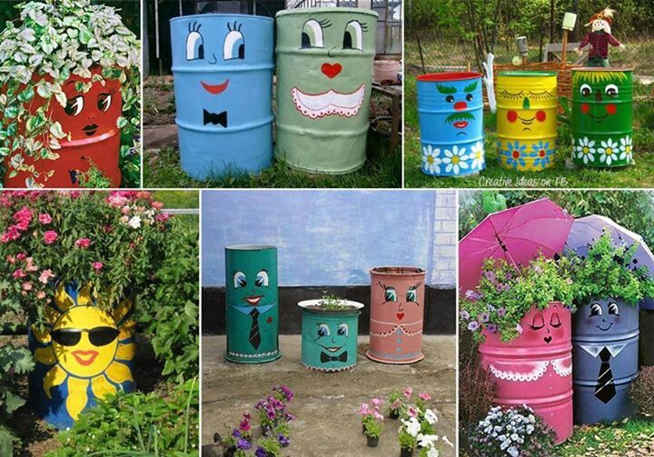 Upcycle y recycle garden ideas in the garden and flowers for Recycled garden ideas pinterest