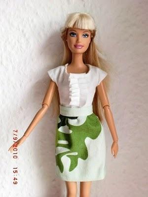 green barbie skirt