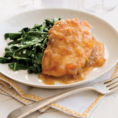 Apricot-Mustard Glazed Chicken #chickenrecipes
