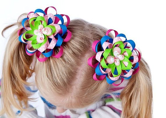 Beginner how to make flower mum bows hair bow by BirdsongPatterns, $8.00