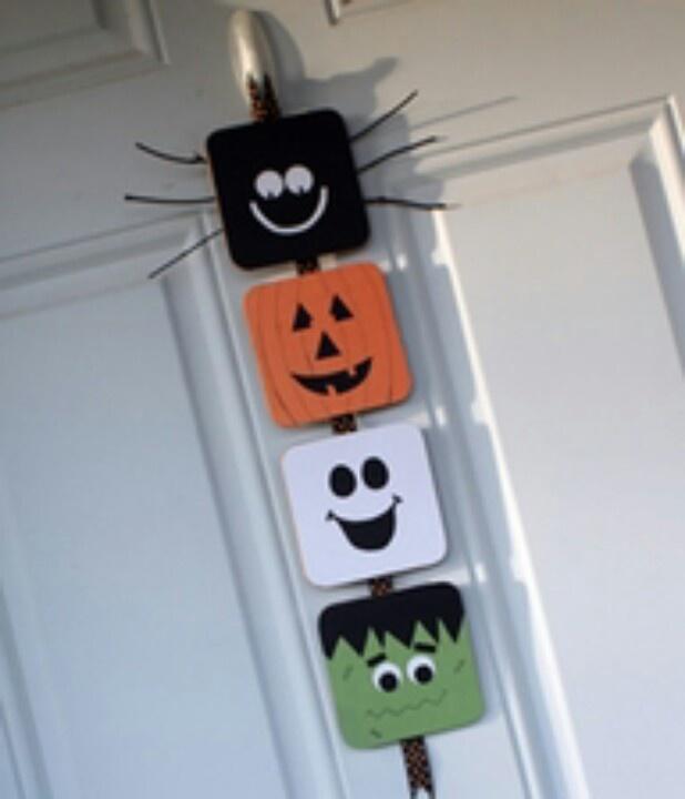 Halloween Door hanger | wooden crafts | Pinterest