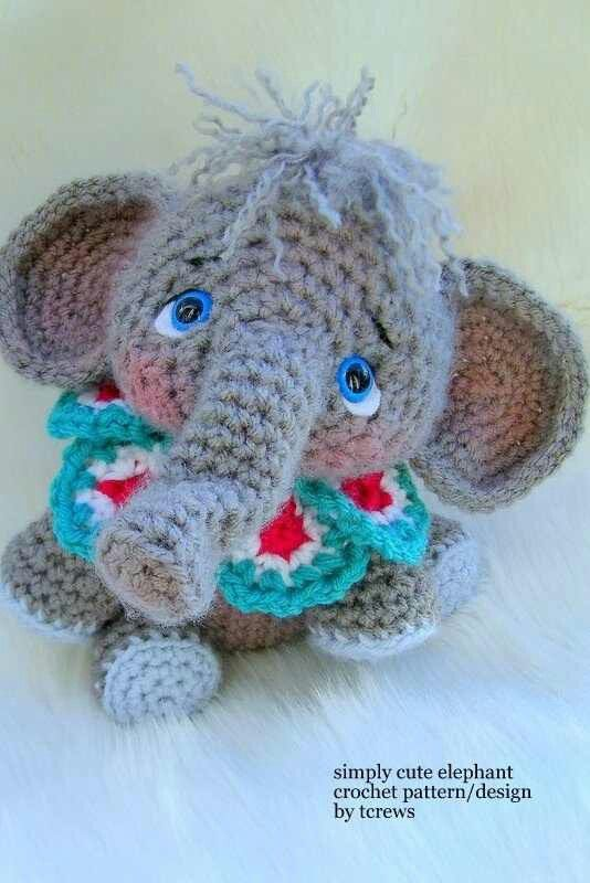 Crochet Elephant : Crocheted elephant all things crochet Pinterest
