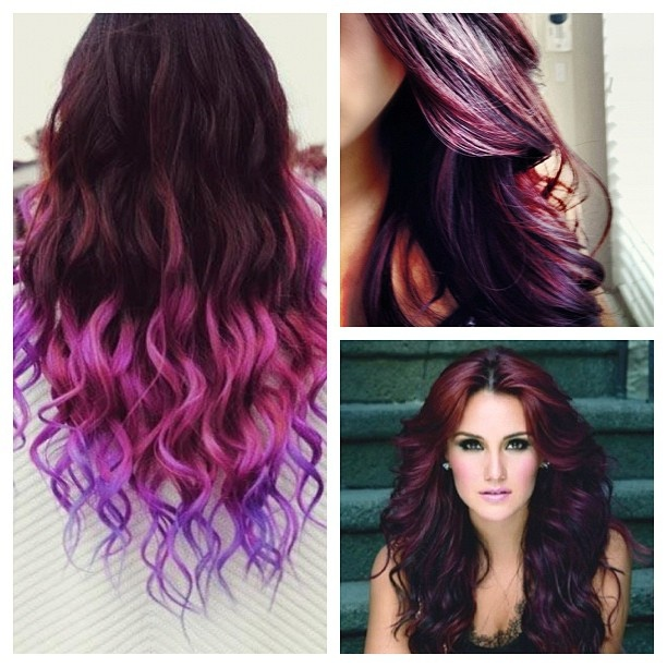 Burgundy and Plum hair color that I want :) | Hair Aspirations ...