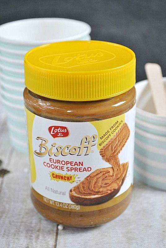 Easy Biscoff Cheesecake Ice Cream | www.somethingswanky.com #biscoff # ...