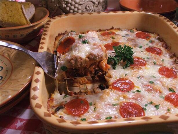 Pepperoni Pizza Casserole. | recipes | Pinterest