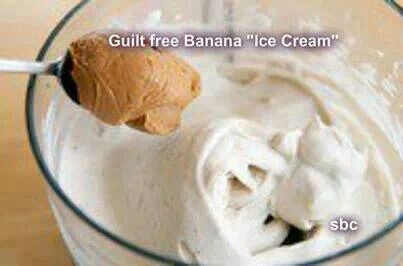 Guilt free banana ice cream | recipes | Pinterest