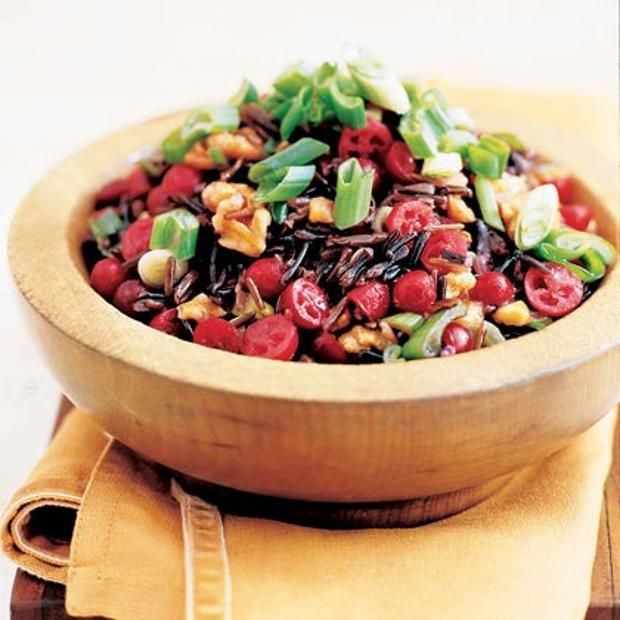 Wild Rice And Cranberry Salad | Vegan | Pinterest