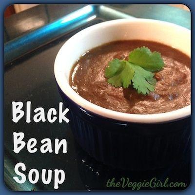 Black Bean Soup   Vegan Eats   Pinterest