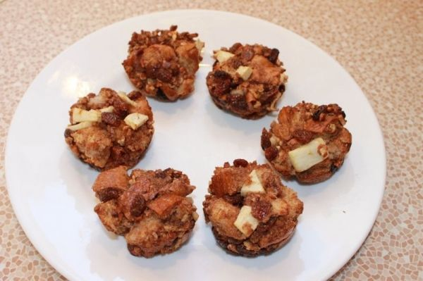 Healthy Bread Pudding #Muffins Recipe | @ What's Cooking | Pinterest