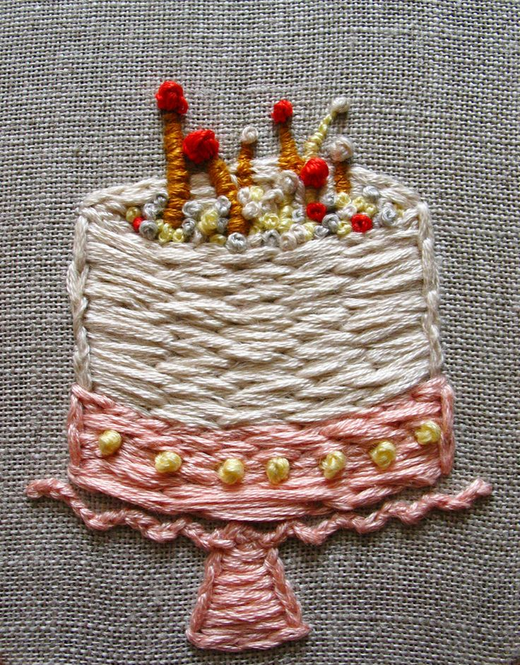 Cake Embroidery  Embroidery  Pinterest