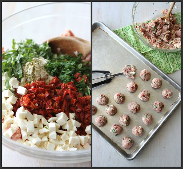 Caprese Turkey Meatball With Sun-Dried Tomatoes, Mozzarella & Basil ...