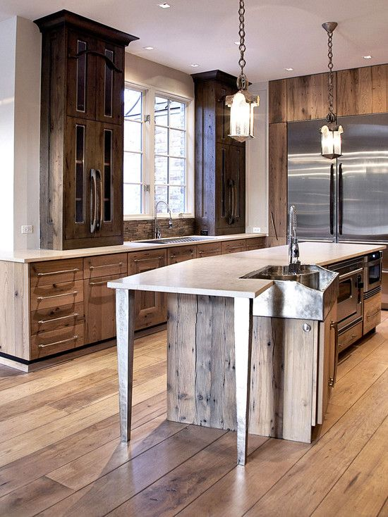 Contemporary Kitchen Rustic Design Rustic Kitchen Pinterest