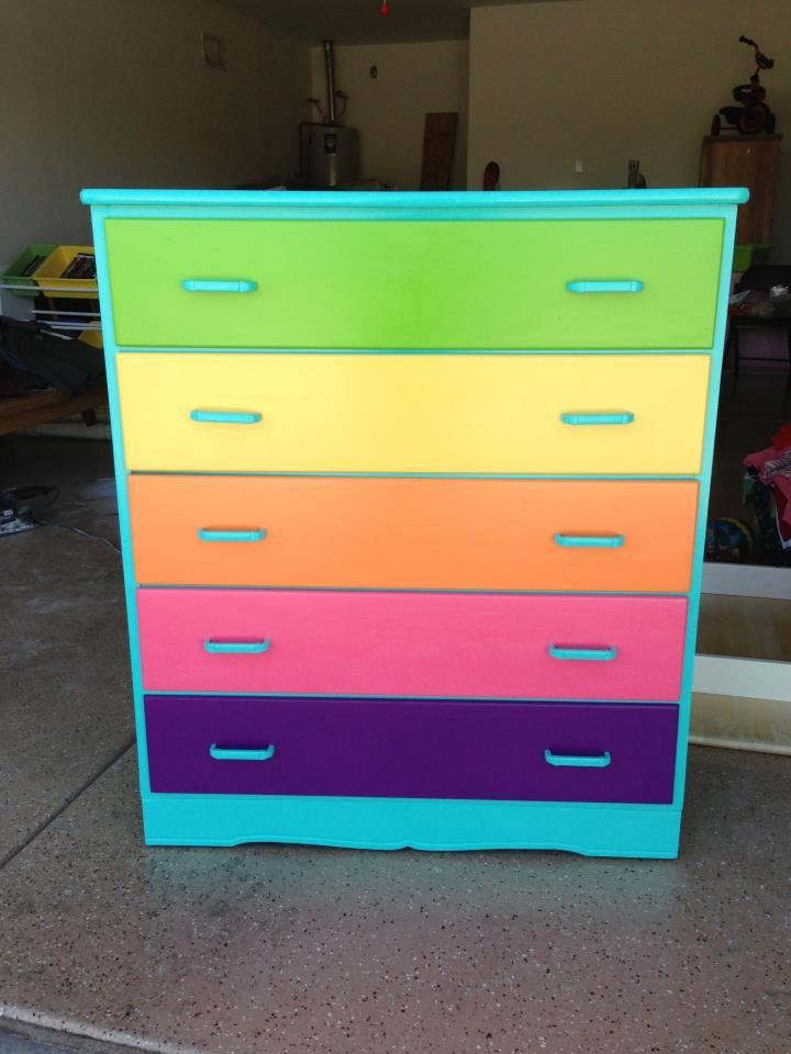 Colorful dresser girls bedroom ideas pinterest for Colorful bedroom ideas pinterest