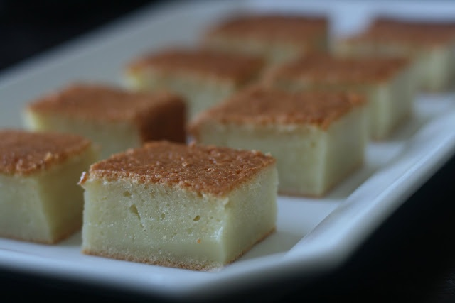 Mochi cake. There are also recipes for blueberry and raspberry. yum!