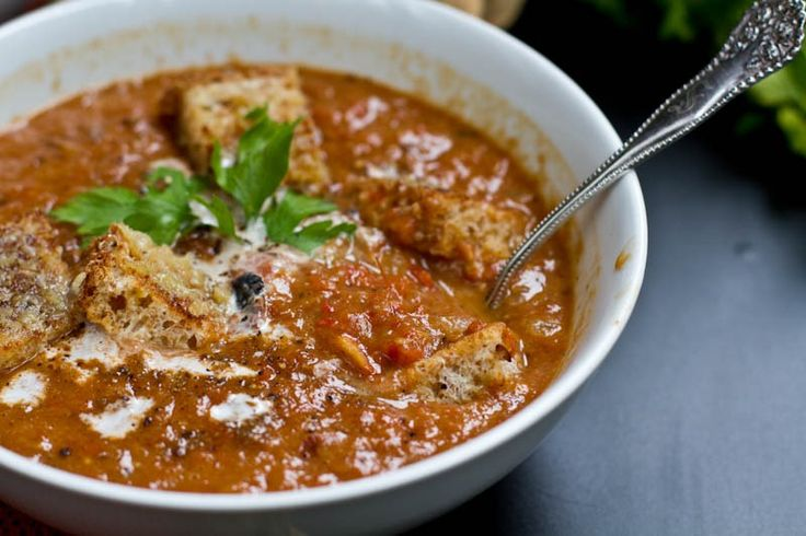 creamy roasted tomato garlic amp onion coconut soup oh she glows