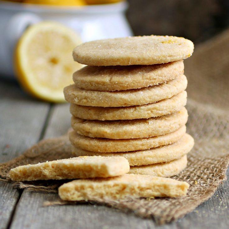 Lemon Cornmeal Shortbread Cookies ( + thyme/rosemary/geranium