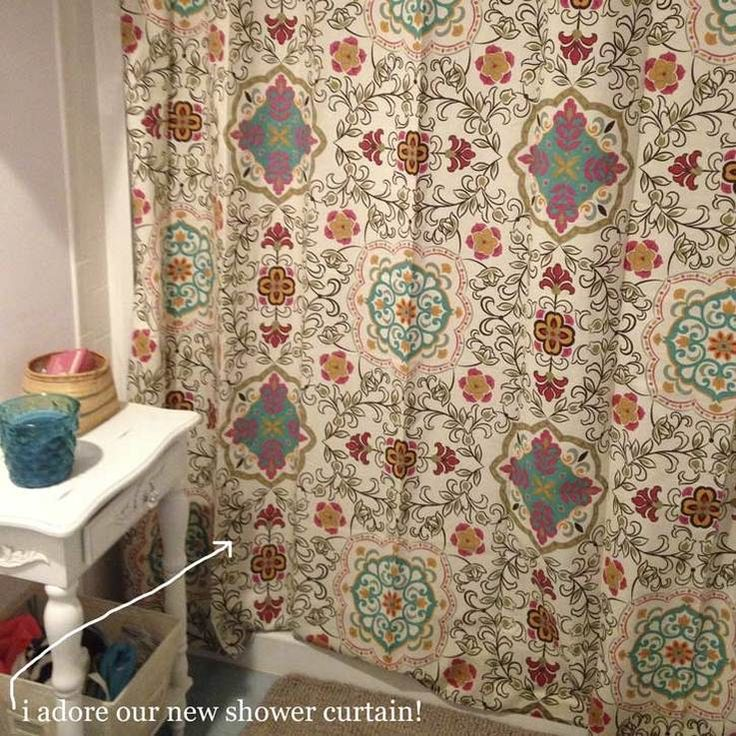 cute new bohemian shower curtain for the home pinterest