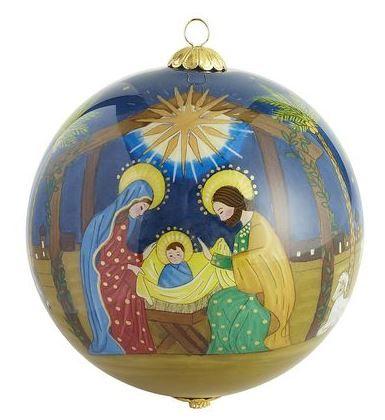 Nativity scene Christmas ball ornament | Christmas | Pinterest
