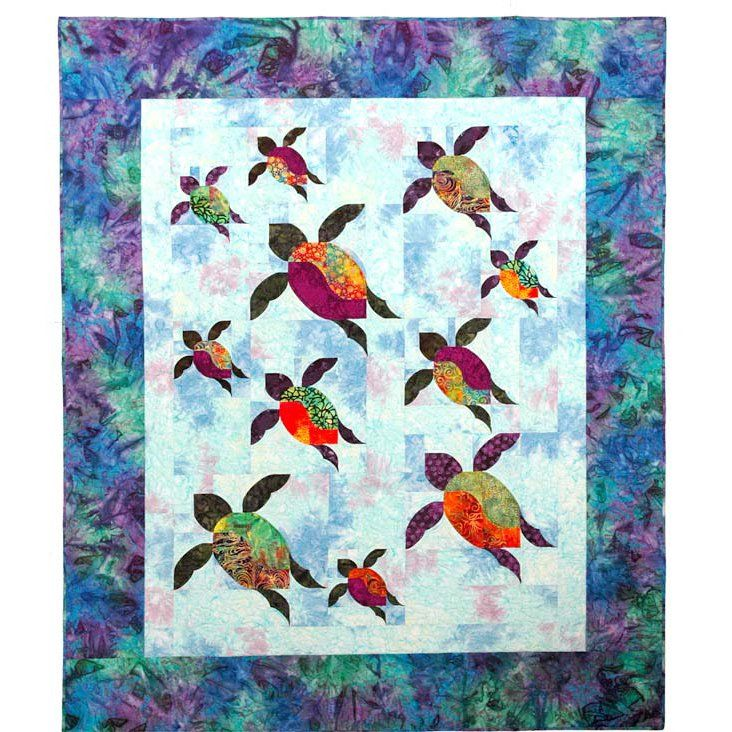 Quilt Patterns With Turtles : Pin by Quilt Inspiration on Aquarium & Sea quilts Pinterest
