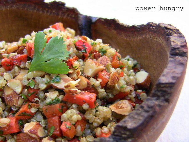 carrot quinoa salad with Lemon-Coriander Dressing