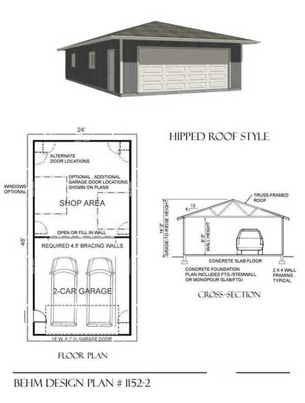 Pin by behm design on garage plans pinterest for 2 car garage workshop layout