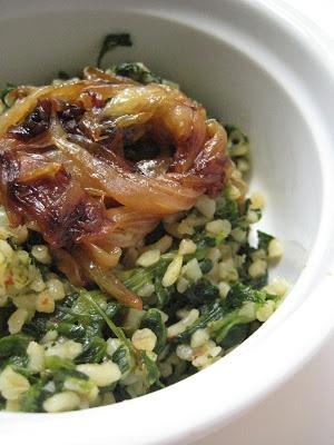 ... and Fried Onions (Ispanaklı ve Kızarmış Soğanlı Bulgur Pilavı