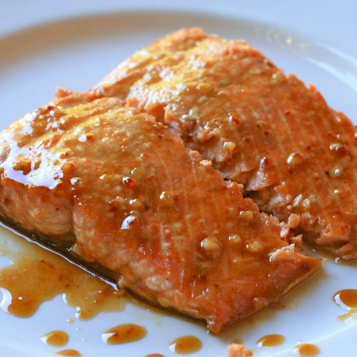 Salmon with Maple Mustard Sauce | s e a f o o d | Pinterest