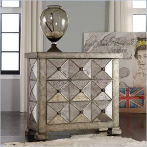 Hooker Furniture Melange Dimensional Antique Mirrored Chest