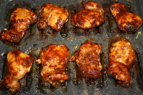 Spicy Honey-Brushed Chicken Thighs | Food | Pinterest