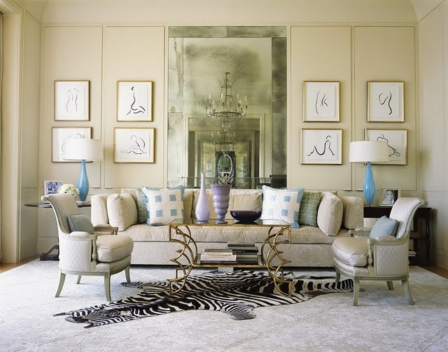 Hollywood glamour living rooms pinterest for Hollywood glam living room ideas