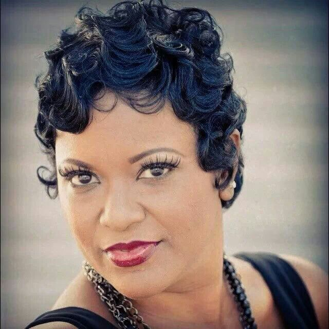 Short Hair Finger Wave Hairstyles Black Women