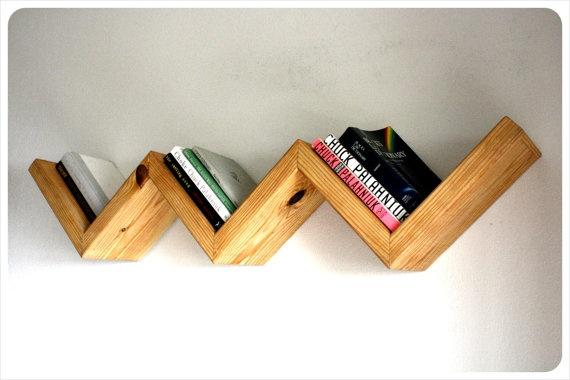 Floating Wood Zig Zag Shelf 570 x 380