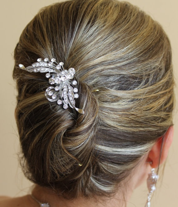 Crystal Bridal Hair Comb  http://www.etsy.com/shop/JamJewels1