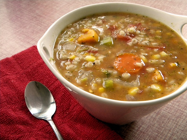 Vegetable Lentil & Barley Soup Recipe — Dishmaps