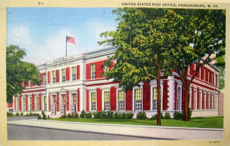 Parkersburg (WV) United States  City pictures : United States Post Office 1951.