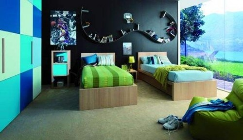 Paint colors for teen boys room ideas jocelyn specialtys for Blue and green girls bedroom ideas