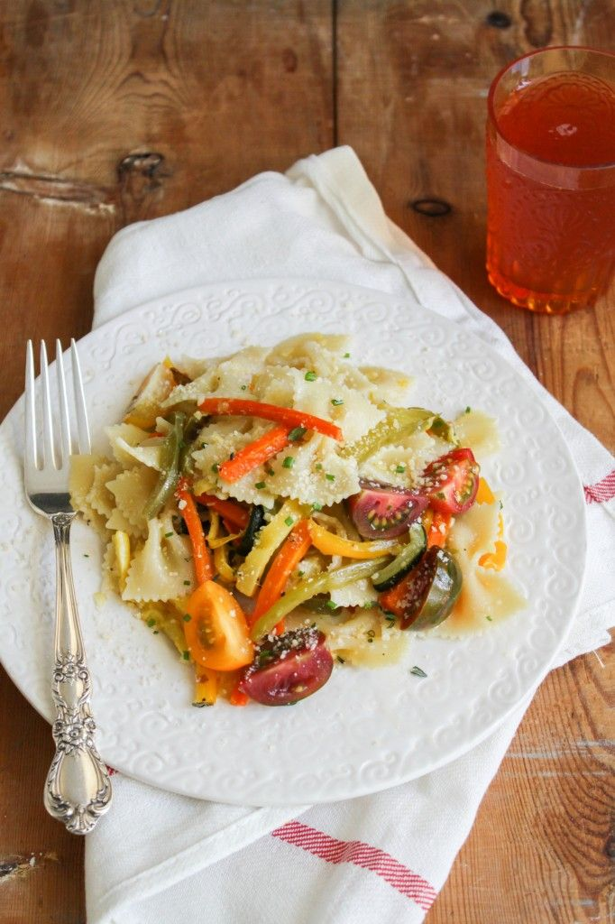 Summer Pasta with Roasted Vegetables | The Little Epicurean | Pintere ...
