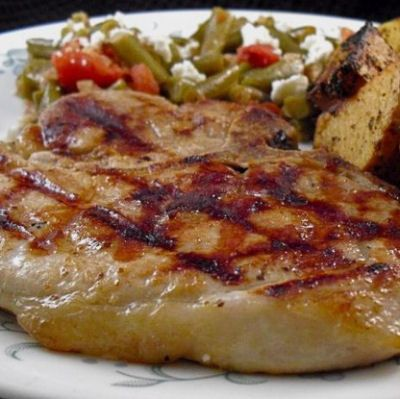 Best Grilled Pork Chop Recipe plus more! Cilantro fries and yummy roll ...