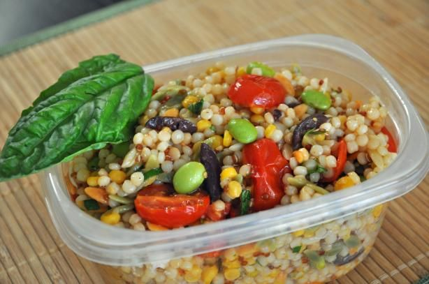 Israeli Couscous Salad With Roasted Cherry Tomatoes | Recipe