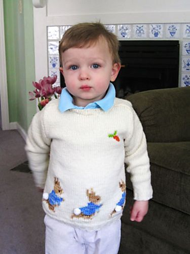 Knitting Pattern For Peter Rabbit Jumper : Ravelry: ssummerers Peter Rabbit Sweater Knitting::Little Girls P?