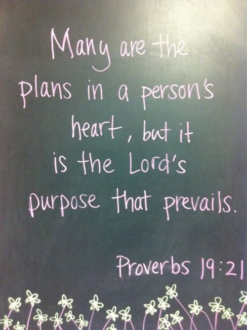 Follow His plans for your/my life.......
