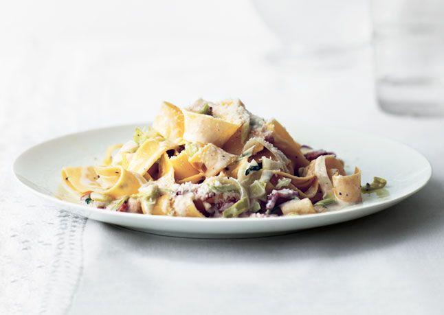 Leek And Bacon Carbonara Recipe — Dishmaps