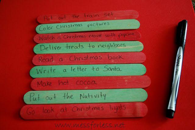 Mess For Less: Easy DIY Advent Calendar and 35 Advent Calendar Ideas