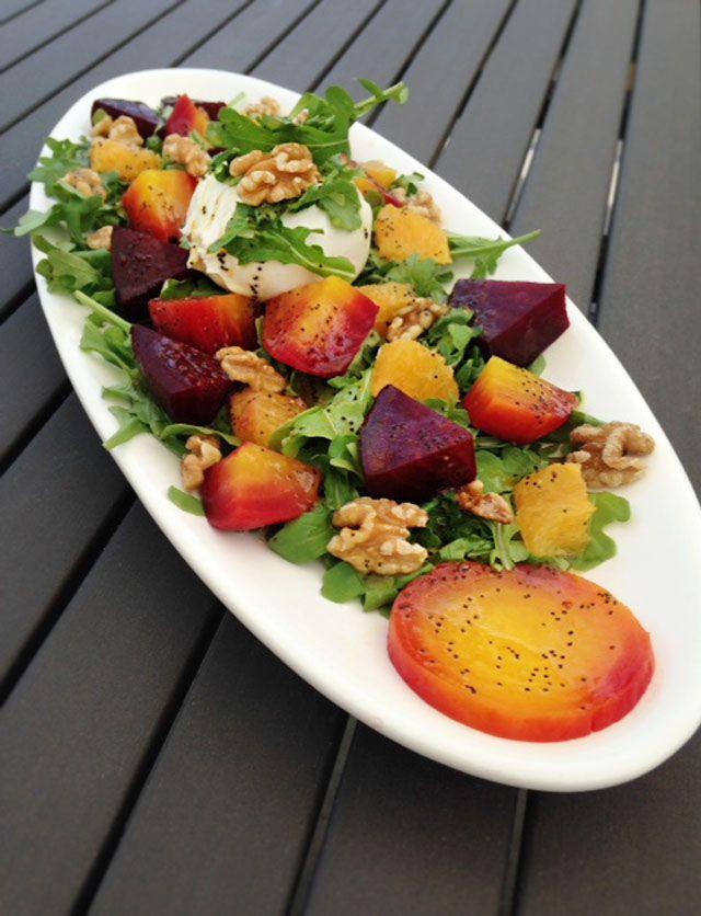 Sun Salad Beet, Burrata & Orange w/ Orange Champagne Vinaigrette