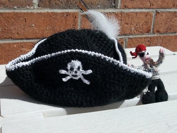 Pirate Hat by TheFlyingNeedles on Etsy, $25.00