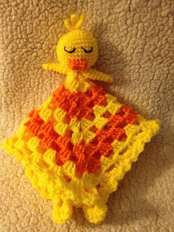 Crochet Pattern Baby Lovey : Crochet ducky lovey Crocheted Lovey patterns Pinterest