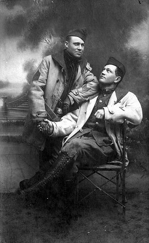 """Link to flickr page of Trent Kelley's collection of vintage photos of black men in affectionate poses. """"Some of these images are sure to be gay and others may not. The end result is speculative at best for want in applying a label. Not every gesture articulated between men was an indication of male to male intimacies. Assuredly, what all photographs in this book have in common are signs of Afro American male affection and love that were recorded for posterity without fear and shame..."""""""