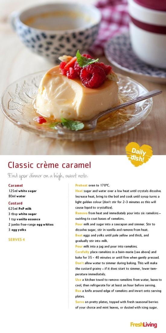 Classic Creme Caramel   Cookbook   Pinterest